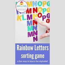 Rainbow Letter Sorting Game That Teaches Alphabetical Order Nurturestore