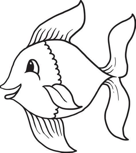 cartoon fish coloring page  templates owl coloring
