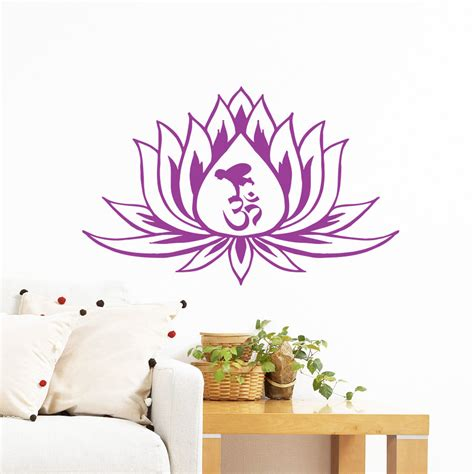 Wall Mural Decals Flowers by Wall Decals Lotus Flower Vinyl Sticker Decal By
