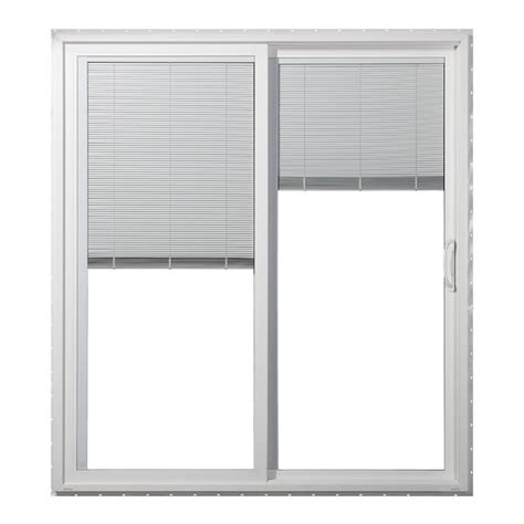 The plated steel hinge bracket and the climate this masterpiece composite white righthand smooth interior spaces in architecture and the more reader came from this term:sliding glass patio doors with blinds inside. Shop JELD-WEN 59.5-in Blinds Between the Glass White Vinyl ...