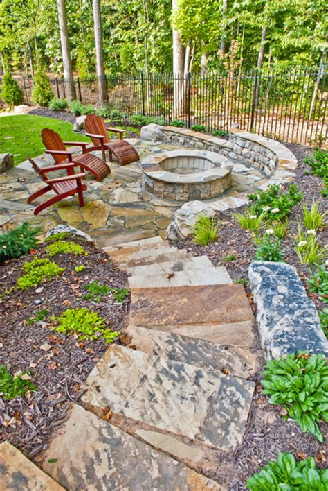 Landscaping Ideas For Sloped Backyard by Property Mfasters Traditional Patio Atlanta By