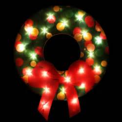 northlight lighted shimmering christmas wreath with bow window silhouette decoration wayfair