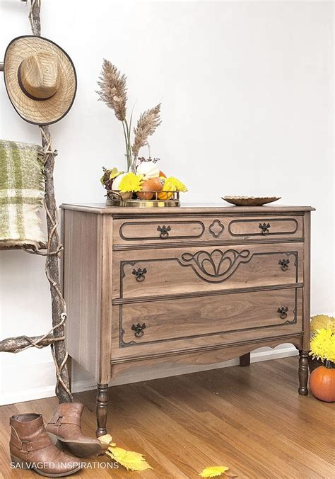 raw wood dresser makeover seal protect