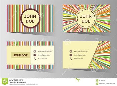 Business Card Vector Templates With Rainbow Stock Vector Business Letter Sample Placing Order Plan Artist Resume Example Block Format Thank You Meeting Tagalog Letterhead Samples After