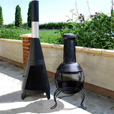 garden chimineas outdoor chiminea garden patio log burner wood heater