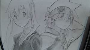 "My Pencil Drawing: Soul Evans & Maka Albarn: ""Soul Eater ..."