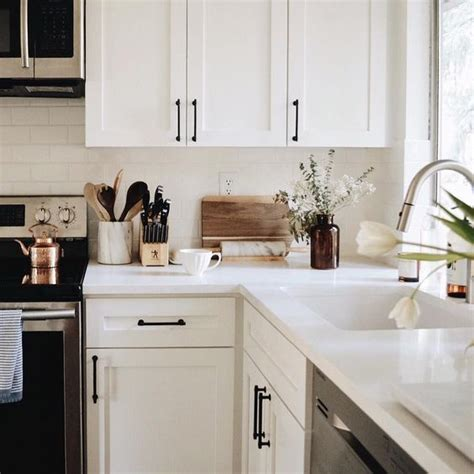 White Cabinets With Black Hardware  Home  Pinterest