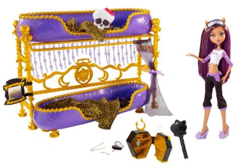 Monster High Dead Tired Clawdeen Wolf Doll And Bed Playset