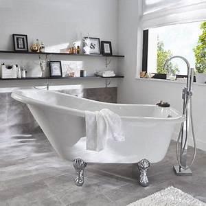 Petite Baignoire Retro : baignoire lot 147 x 74 cm belle poque castorama ~ Edinachiropracticcenter.com Idées de Décoration