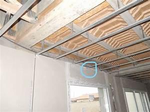 Faux Plafond Placo Sur Rail : ides de faux plafond placo sur rail galerie dimages ~ Melissatoandfro.com Idées de Décoration