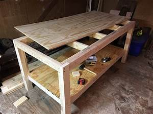 How To Build A Woodworking Workbench And Tablesaw Outfeed Table