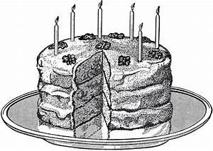 Vintage Birthday Cake Image! - The Graphics Fairy