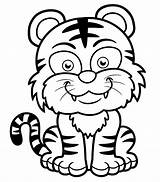 Coloring Tigers Pages Tiger Children Print Baby Funny Printable Smiling Coloriage Dessin Animals Colorier Re Justcolor Ius Depuis Enregistree Tech sketch template