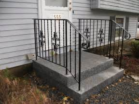 Deck Gates Lowes by Custom Wrought Iron Handrails In Granite Steps From