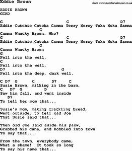 Summer Camp Song Eddie Brown With Lyrics And Chords For