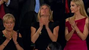 Navy SEAL's widow receives standing ovation at Trump ...