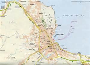 Palermo Sicily Italy Map