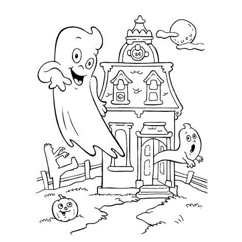Kleurplaat Spook by Leuk Voor Het Spookt In Het Oude Huis