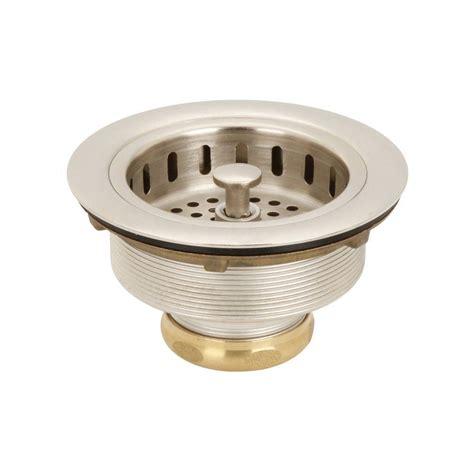 delta 4 1 2 in kitchen sink flange and strainer in