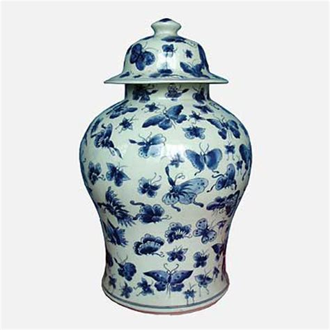 blue ginger jar ls blue ginger jars blue and white butterfly design ginger jar