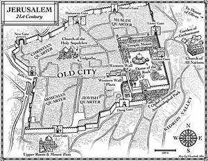 New Maps  U2013 Jerusalem In 4 Bc And 21st Century