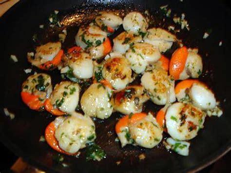 cuisiner ail recette de coquilles st jacques à l 39 ail et persil