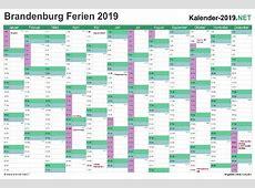 FERIEN Brandenburg 2019 Ferienkalender & Übersicht