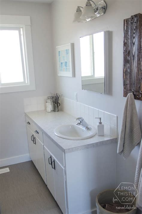 remodelaholic diy bathroom remodel on a budget and