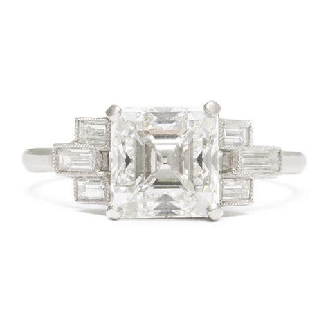 deco asscher cut engagement rings a la vieille russie deco asscher cut engagement ring faberge antique jewelry