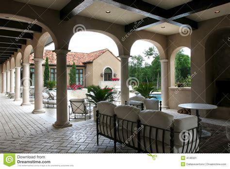 luxury spanish style home  pool stock image image