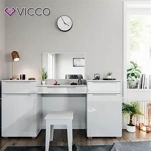 Frisiertisch Mit Spiegel : vicco schminktisch lilli wei hochglanz real ~ Frokenaadalensverden.com Haus und Dekorationen