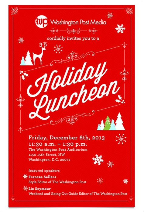 holiday lunch invitations jpg vector eps ai