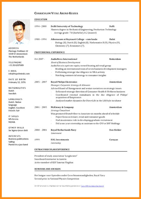 6 curriculum vitae template word free odr2017