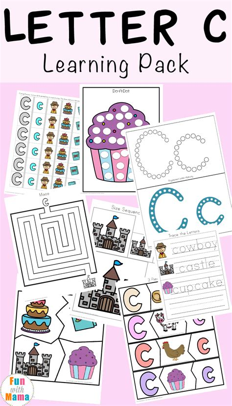 letter c worksheets and printables pack with 749 | Letter C Learning Pack 1