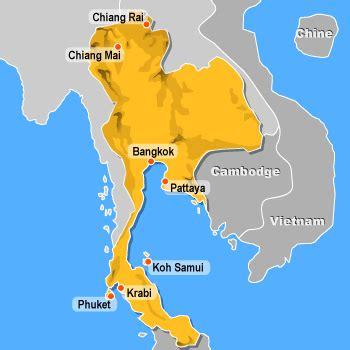 Thailande Dans La Carte Du Monde by Tha 239 Lande Montagnes Carte