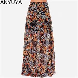 skirts womens vintage floral print long maxi skirt for