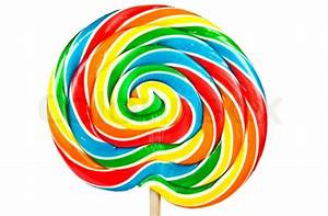Big colorful lollipop isolated on white background | Stock ...