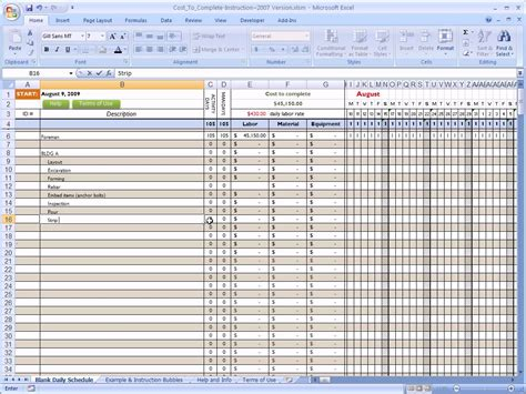 cost  complete  construction  excel youtube