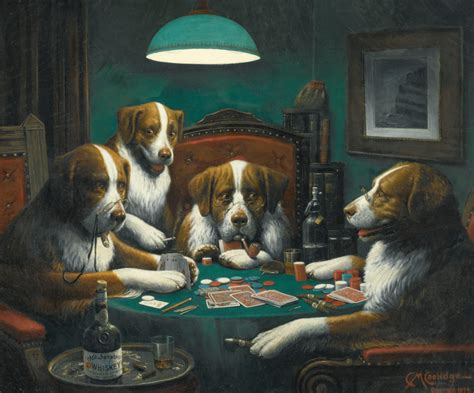 Famous Painting Of Dogs Playing Poker Sells For Over