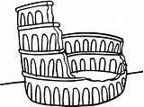Colosseum Coloring Drawing Printable Pages Pattern Ruined Yarmulke Crochet Yarmulkes Crocheted Getdrawings Line sketch template