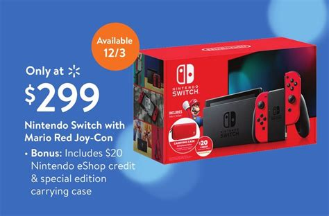 walmart  exclusively sell  mario red switch bundle