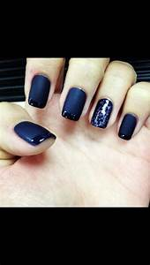 Matte navy blue nails | Nailed It | Pinterest