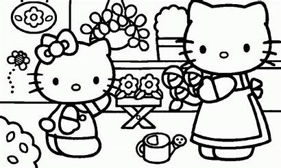 Kitty Hello Coloring Pages Pdf Computer Printable
