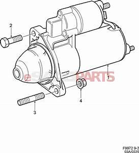 4966842  Saab Starter Motor