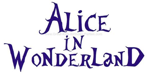 Alice In Wonderland Font