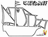 Pirate Ship Coloring Pages Pirates Vessels Square Yescoloring Seas Boys Printout sketch template