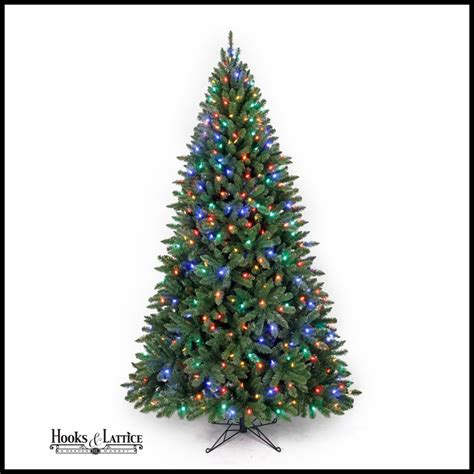 7ft Spruce Artificial Christmas Tree  Clear Led Lights