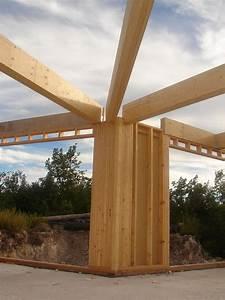 Maison Ossature Bois Toit Plat : maison ossature bois individuelle contemporaine toit plat bras var paca ~ Melissatoandfro.com Idées de Décoration