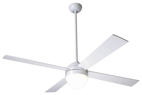 contemporary white ceiling fan 52 quot modern fan gloss white ball with light ceiling fan