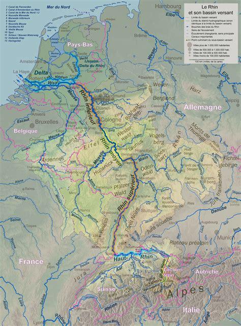 Carte Fleuve Rhin by Rhin Carte Populationdata Net